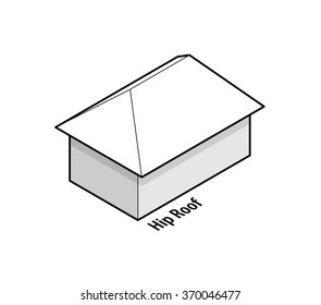 Building roof type: hip roof.