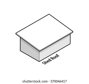 Building roof type: shed roof.