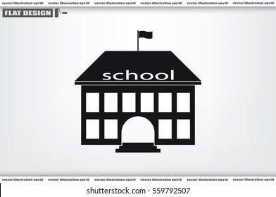 building school icon vector illustration eps10. Isolated badge for website or app - stock infographics