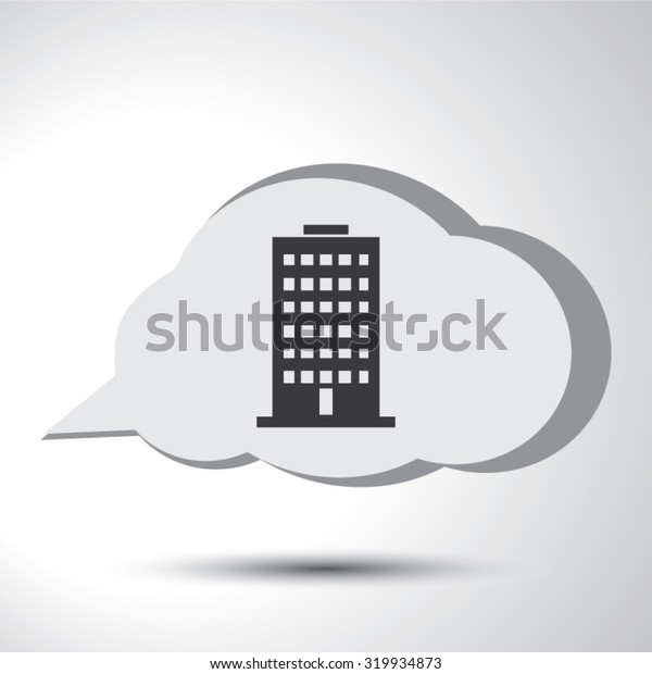 Building sign flat icon