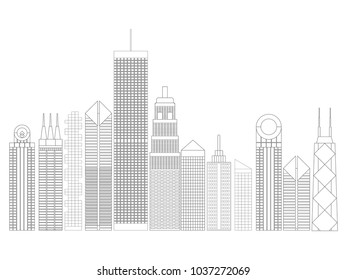 building and tower outline.