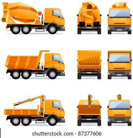 Building trucks  in vector (Set #15).