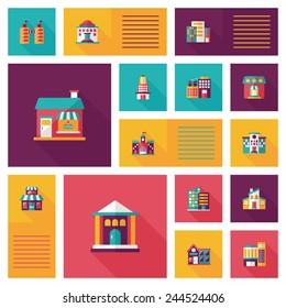 Building ui flat design background set, eps10