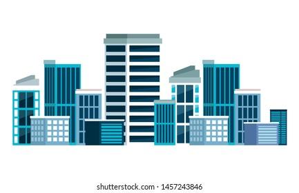 building urban architecture icon cartoon vector illustration graphic design