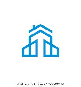 Building vector grapic logo