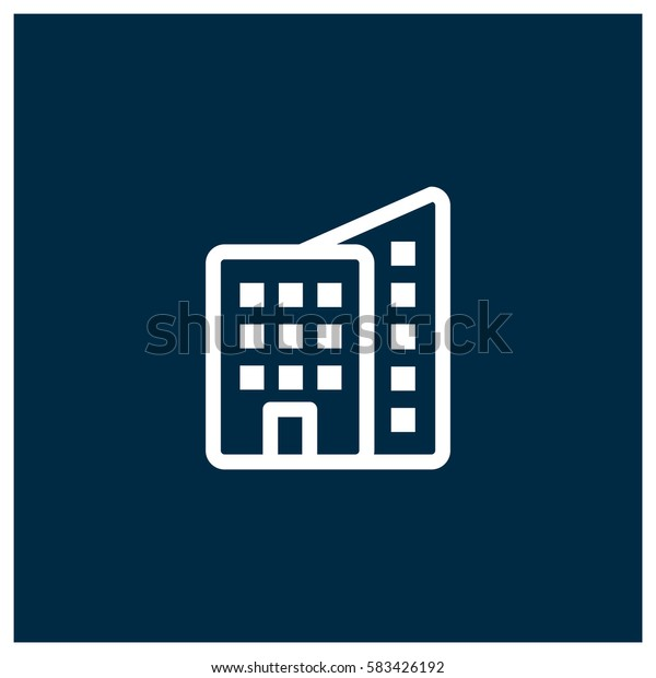 Building vector icon, real estate symbol. Modern, simple flat vector illustration for web site or mobile app
