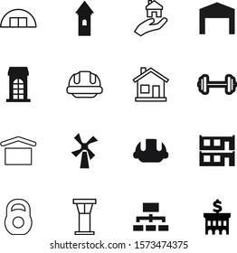 building vector icon set such as: finance, industrial, window, sky, athletic, medieval, group, air, view, windmill, light, residence, flying, flour, loan, women, bank, burj, store, iron, pyramid