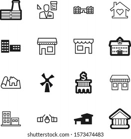 building vector icon set such as: abstract, simple, public, man, light, agricultural, refinery, bridge, wheat, love, agriculture, pollution, businessman, red, loan, retro, amsterdam, nuclear, eps10