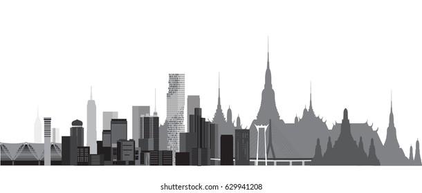 Buildings and city of Thailand. Bangkok Thailand