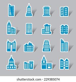 Buildings Color Icon Label