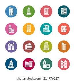 Buildings Color Icons