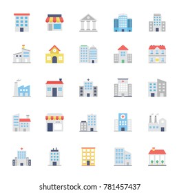 Buildings Colored Icons 1