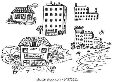 Buildings Doodles