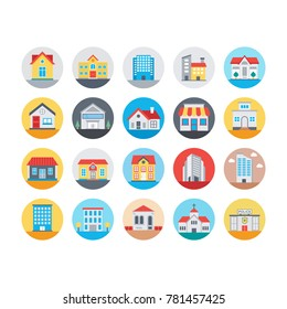 Buildings Flat Icons 2