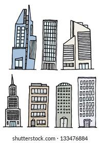 Buildings Handwritten Set / Sketchy Architecture