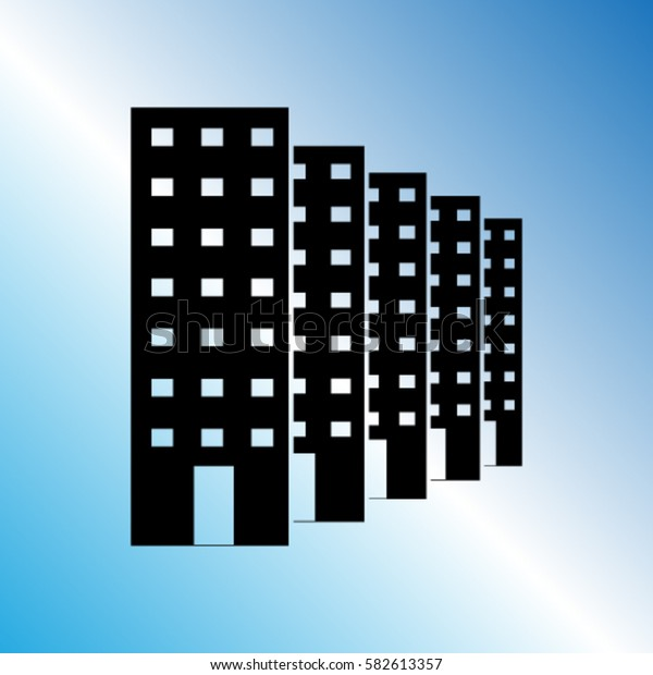 Buildings icon, real estate vector illustration