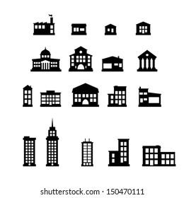 Buildings - buildings icon set