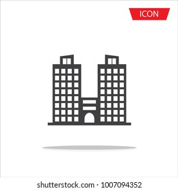 Buildings icons vector isolated on white background