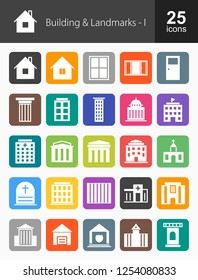 Buildings & Landmarks Glyph Icons