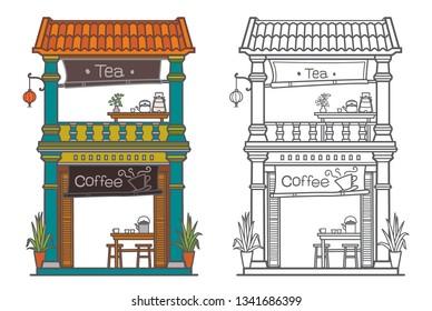 Buildings. Old town