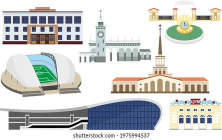 buildings and sights of Sochi, architecture of Sochi, the name of the building in Russian-tsum (central department store)