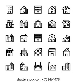 Buildings Stoke Icons 1