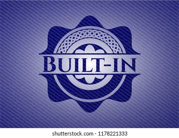 Built-in badge with denim background