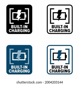 """Built-in Charging"" vector information sign"