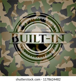 Built-in on camouflage pattern