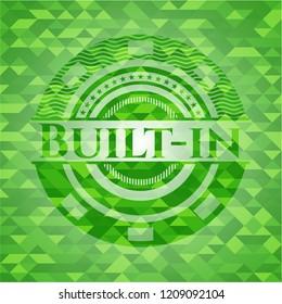 Built-in realistic green mosaic emblem
