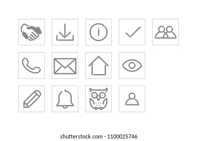 buisness icons vector contour