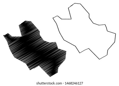 Bulawayo Province (Republic of Zimbabwe, Provinces of Zimbabwe) map vector illustration, scribble sketch Bulawayo map