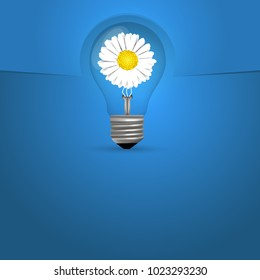 Bulb background with flower