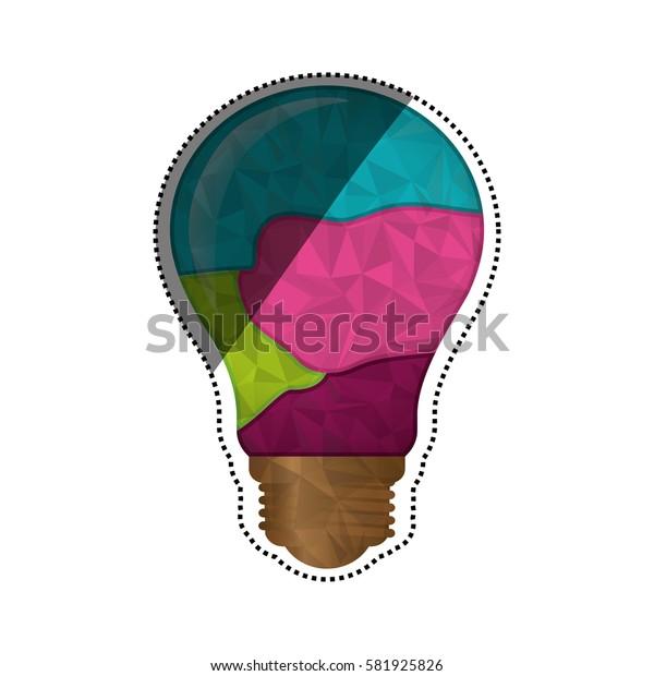 Bulb big idea icon vector illustration graphic design