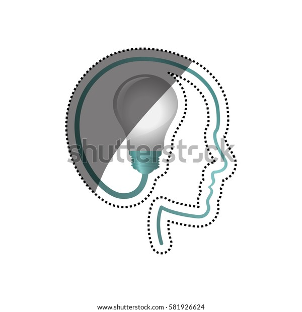 Bulb big idea icon vector illustration graphic design