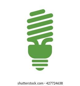 bulb, ecology green icons set on white background