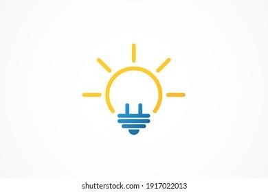 bulb electricity vector logo template