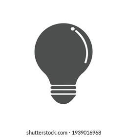 Bulb flat vector icon. Idea flat vector icon