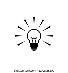 Bulb Icon. Idea Vector Illustration. Lightbulb Signage. Energy Symbol.