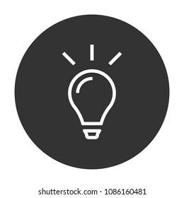 Bulb icon. lamp idea vector icon, idea sign