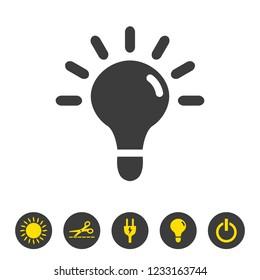 Bulb icon on white background. Vector illustration
