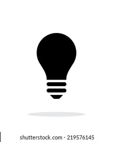 Bulb icon on white background. Vector illustration.