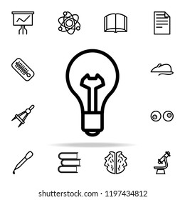 bulb icon. Science icons universal set for web and mobile