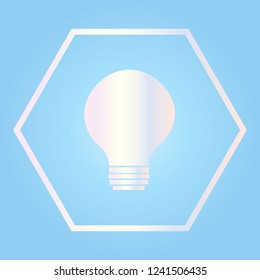 Bulb icon science and technologies