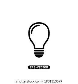 Bulb icon vector illustration logo template for many purpose. Isolated on white background.