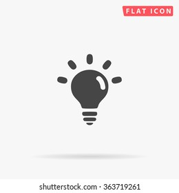 BULB Icon vector. Simple flat symbol. Perfect Black pictogram illustration on white background.