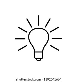 bulb icon vector template
