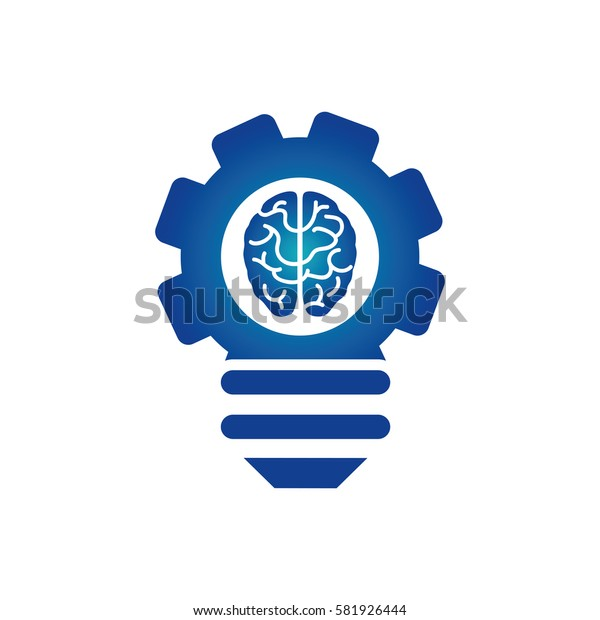 Bulb idea and human brain icon vector illustration graphic design