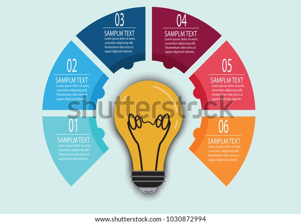 Bulb Infographic Illustrator Stock Vector Royalty Free 1030872994