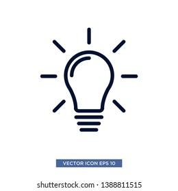 bulb lamp icon vector illustration